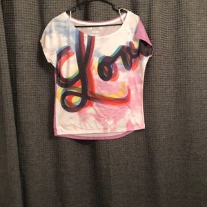 Colorful love shirt